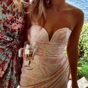 *As New* Zimmermann strapless fitted dress